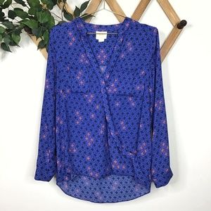Anthropologie Maeve Eva Wrap Crossover Blouse